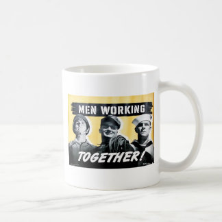 Men Work Ingtogether Coffee Mugs