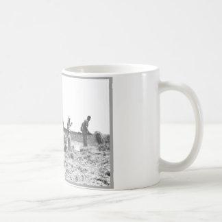 Men Working in Field Coffee Mug