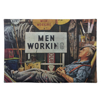 Men Working Placemat