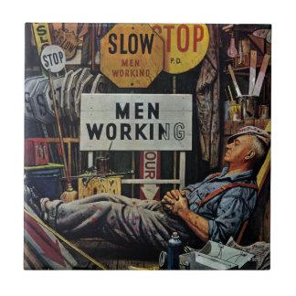 Men Working Tile