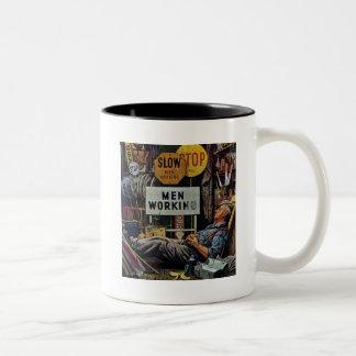 Men Working Two-Tone Coffee Mug