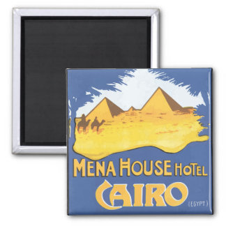 Mena House Hotel Cairo Egypt, Vintage Square Magnet