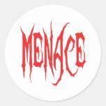 Menace Classic Round Sticker