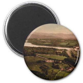 Menai Strait, Bangor, Wales 6 Cm Round Magnet