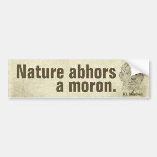 Mencken Moron Quote Bumper Sticker
