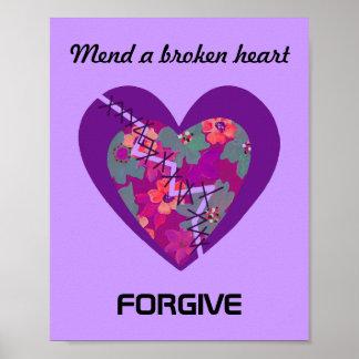 Mend a broken heart poster