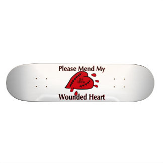 Mend My Wounded Heart 18.1 Cm Old School Skateboard Deck