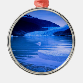Mendenhall Glacier Twilight Christmas Ornament