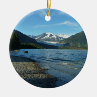 Mendenhall Lake in Juneau Alaska Christmas Ornament
