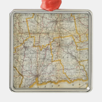 Mendenhall's Guide, Road Map Connecticut Christmas Ornament