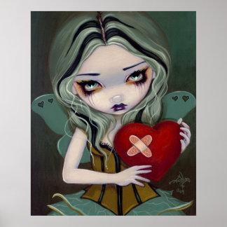 Mending a Broken Heart gothic fairy Art Print
