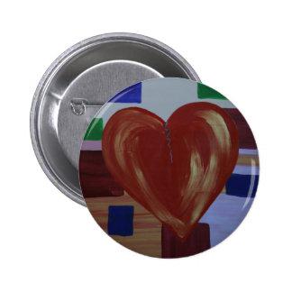 Mending Heart Broken Art  Buttons