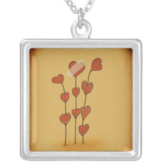 Mending Love Silver Plated Necklace