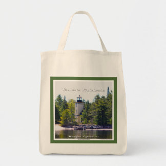 Mendota (Bete Grise) Lighthouse - Grocery Tote Grocery Tote Bag