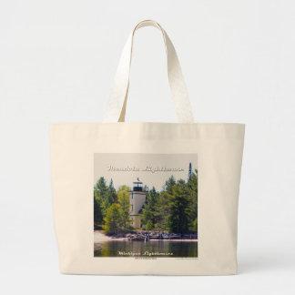 Mendota (Bete Grise) Lighthouse - Large Tote Jumbo Tote Bag