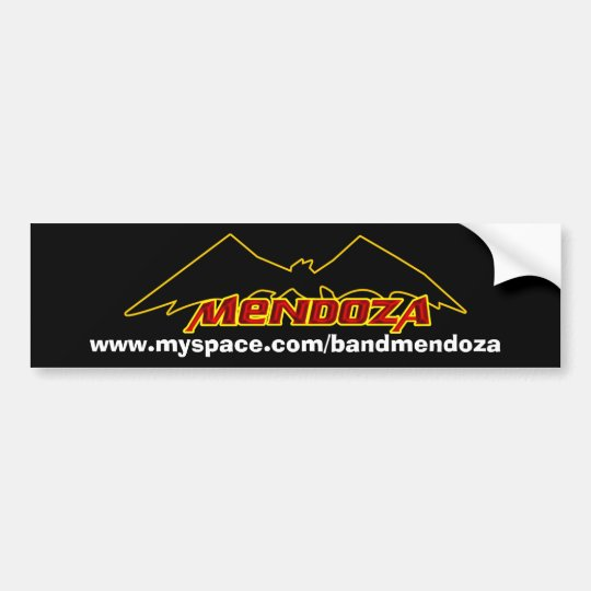 Mendoza* Bat Bumper Bumper Sticker