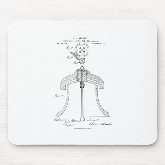 Meneely Bell Company - Yoke Patent Mouse Mat