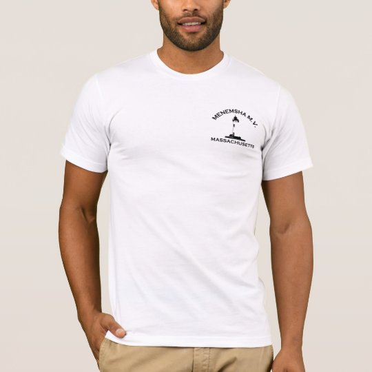 Menemsha Beach - Lighthouse Design. T-Shirt