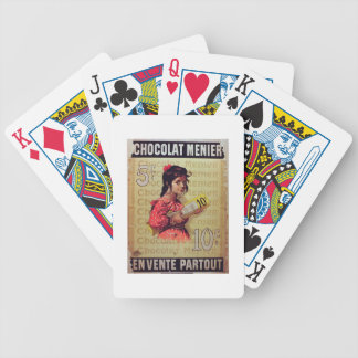 'Menier Chocolat', On Sale Everywhere (colour lith Bicycle Playing Cards