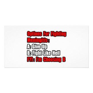 Meningitis Fighting Options Photo Card Template