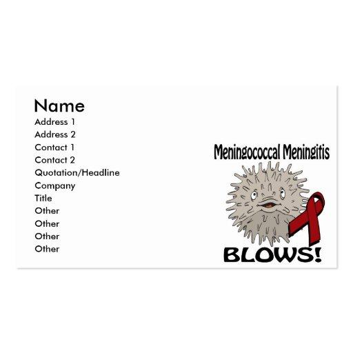 Meningococcal Meningitis Blows Awareness Design Business Card