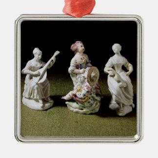 Mennecy porcelain group of a singer christmas ornament