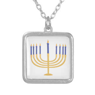 Mennorah Square Pendant Necklace