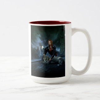 Menolly: Bite Me Two-Tone Coffee Mug