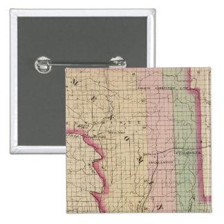Menominee County Michigan 15 Cm Square Badge