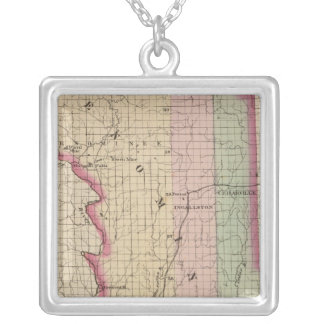 Menominee County Michigan Silver Plated Necklace
