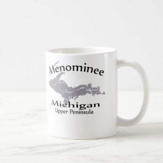 Menominee Michigan Map Design Mug Coffee Mug
