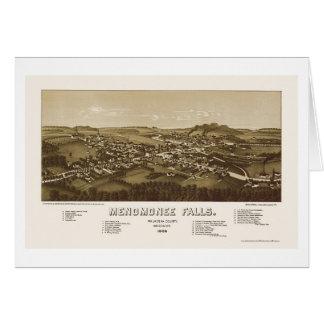 Menomonee Falls, WI Panoramic Map - 1886 Greeting Card