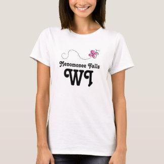 Menomonee Falls Wisconsin Pink Butterfly T-Shirt