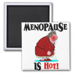 Menopause is Hot Fridge Magnets