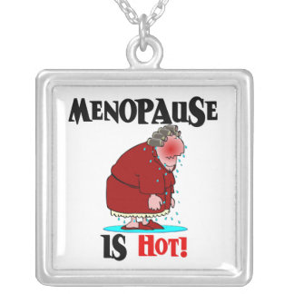 Menopause is Hot Square Pendant Necklace