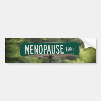 Menopause Lane Bumper Sticker