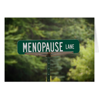 Menopause Lane Card