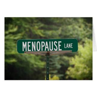 Menopause Lane Greeting Card