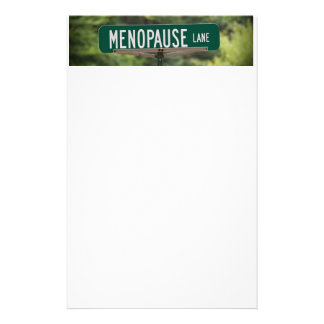 Menopause Lane Sign for a Good Laugh Customised Stationery