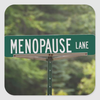Menopause - Mature Women - Female Square Stickers