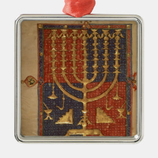 Menorah and other vessels of the temple christmas ornament