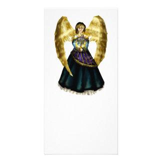 Menorah Angel Photo Cards
