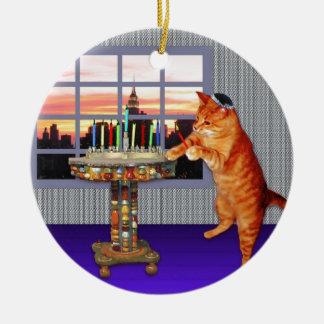 menorah cat.jpg christmas ornament