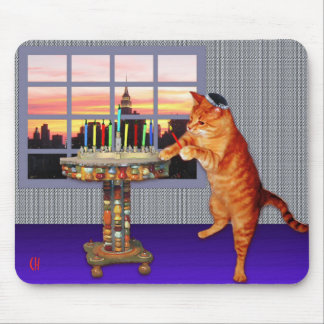 Menorah Cat Mouse Mat