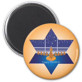 Menorah Dogs_Happy Hanukkah_Star of David Magnet