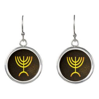 Menorah Flame Earrings