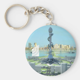 Menorah Islands Project Pin Key Ring