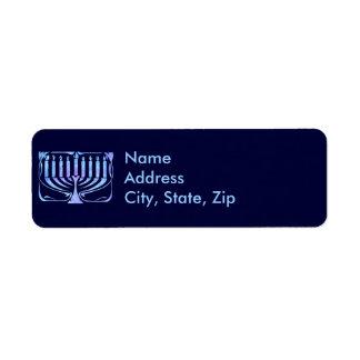 Menorah Return Address Label