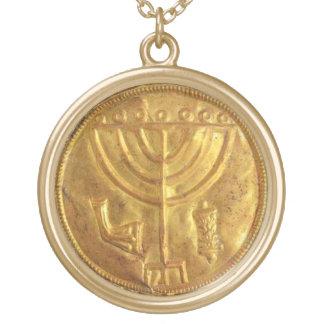 Menorah Medallion Custom Necklace