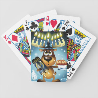 Menorah Reindeer Bicycle Playing Cards